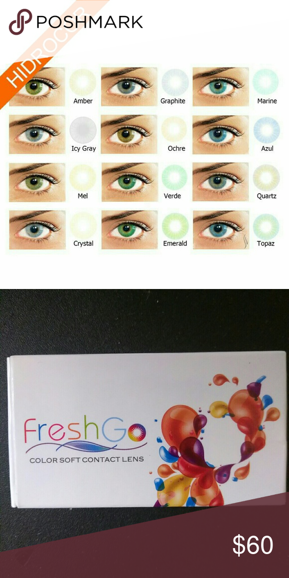 e44a070c5f8 Hidrocor Contacts by Freshgo USA Non prescription for dark eyes 12 colors  available if anyone cant bundle please inform me and ill make a posting  juat for ...