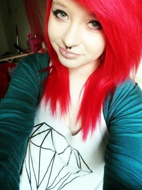 Length Nd Bangs Red Scene Hair Scene Hair Best Hair Dye