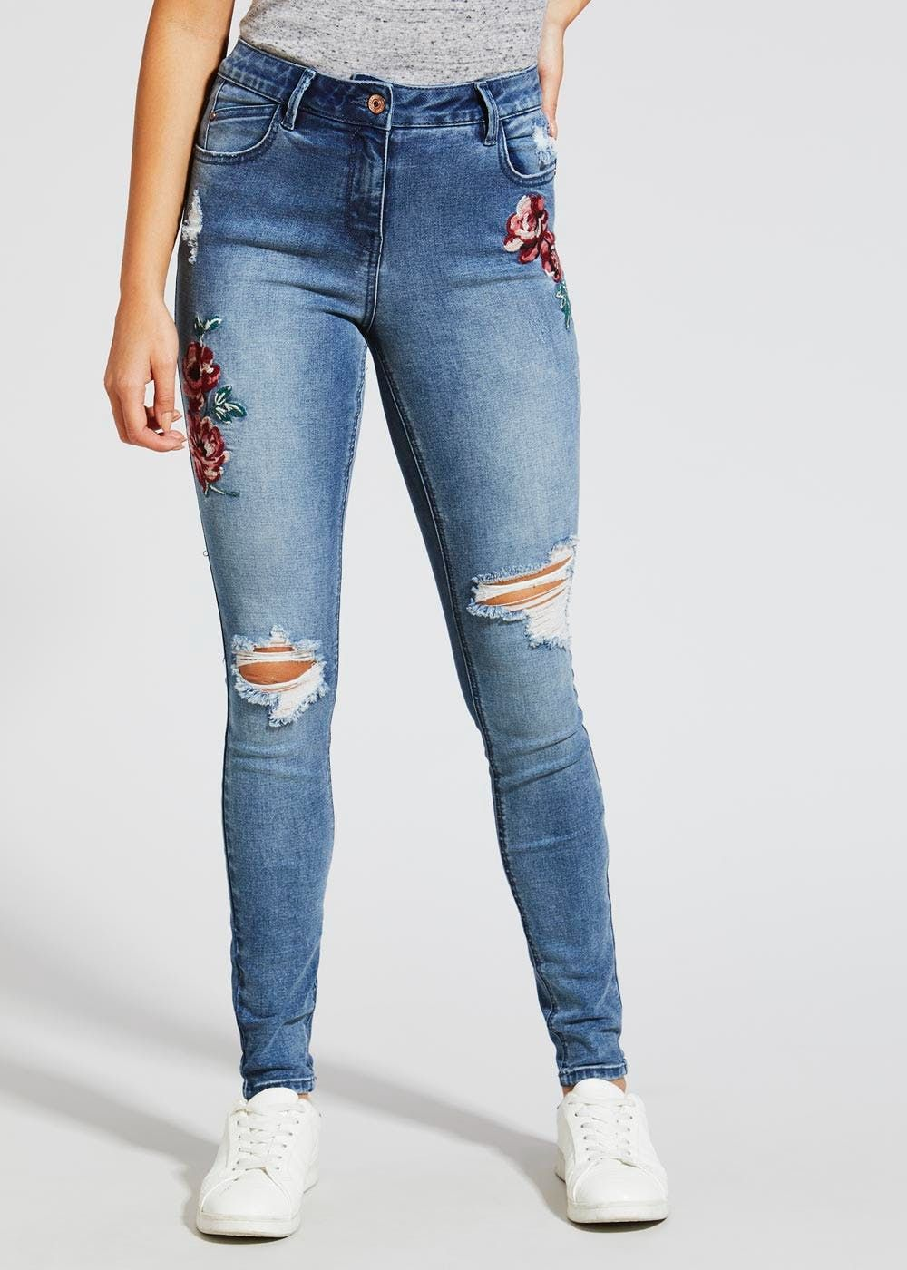 640b960e2d2 April Embroidered Super Skinny Jeans | Wishlist | Super skinny jeans ...