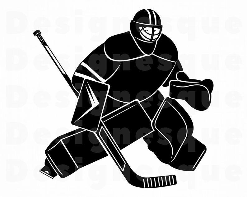 Hockey Goalie Svg Hockey Svg Hockey Clipart Hockey Files Etsy In 2020 Hockey Outfits Hockey Goalie Goalie