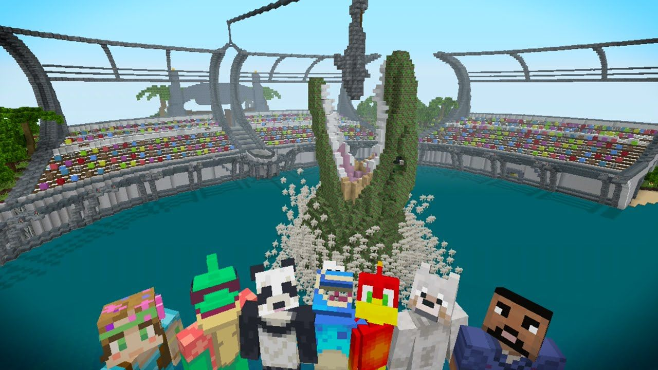 Minecraft XBOX Hide And Seek Jurassic World Jurassic World And - Minecraft xbox 360 los angeles map download