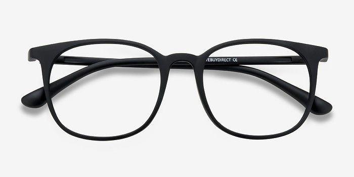 4be28dabb467 Cheer Matte Black Plastic Eyeglasses from EyeBuyDirect. Exceptional style