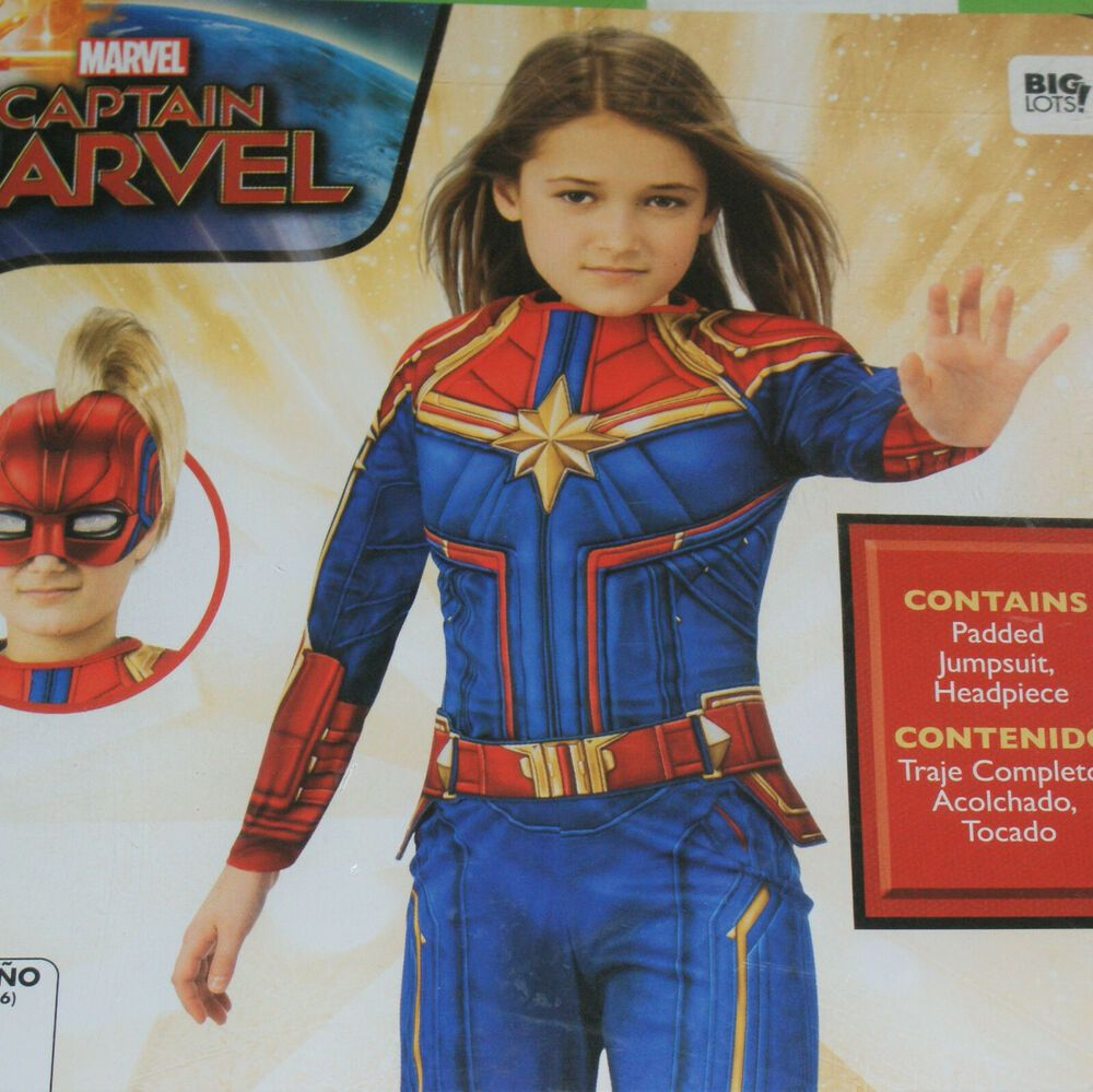 Captain Marvel Costume Child Size 4 6 Small Padded Jumpsuit Headpiece Rubie S Ebay In 2020 Captain Marvel Costume Marvel Costumes Giraffe Costume Rubie's costume yon rogg captain marvel deluxe child costume. pinterest