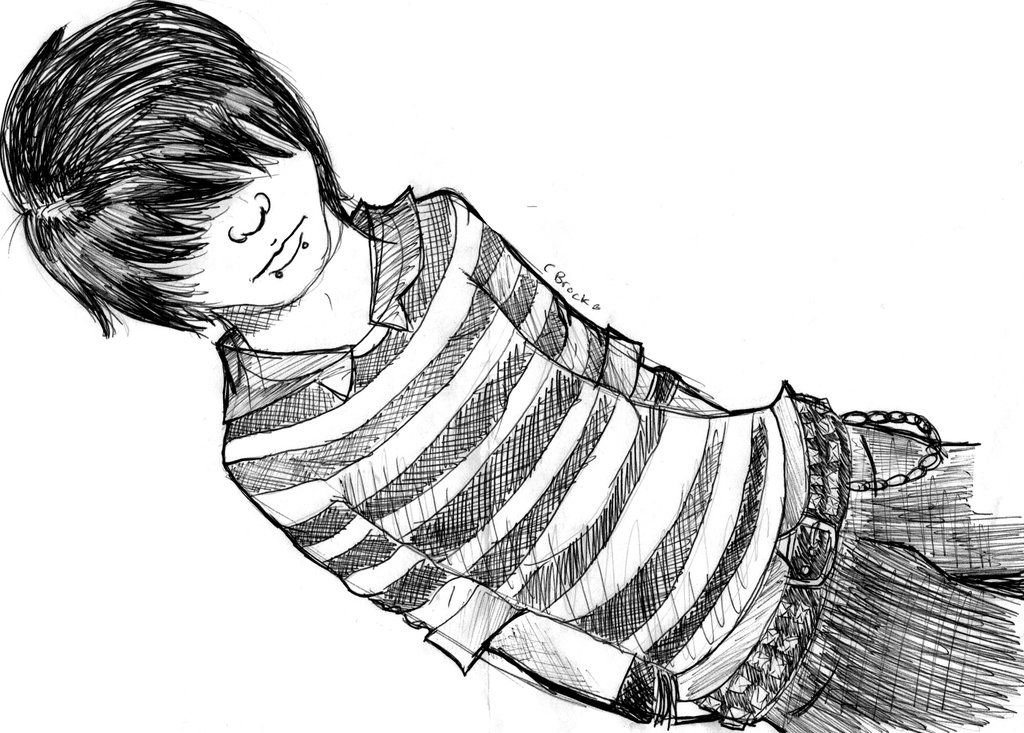 Emo Boy sketch. by Courtneyy-Jane.deviantart.com on @deviantART
