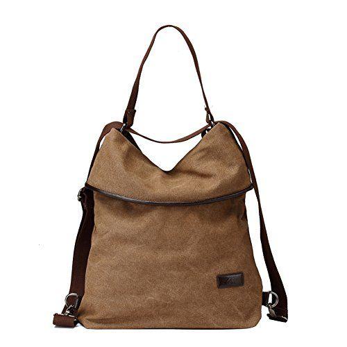 4f80900132c1 MOLLYGAN Multi-purpose Canvas Shoulder Bag Backpack School Bag ...