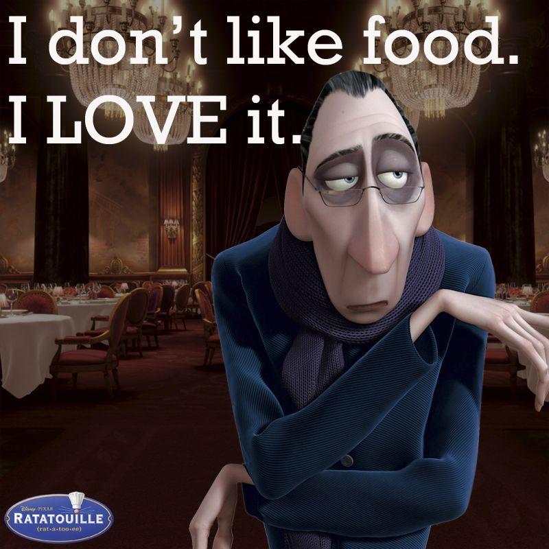 Anton ego ratatouille disney pinterest comida - Film para cocinar ...