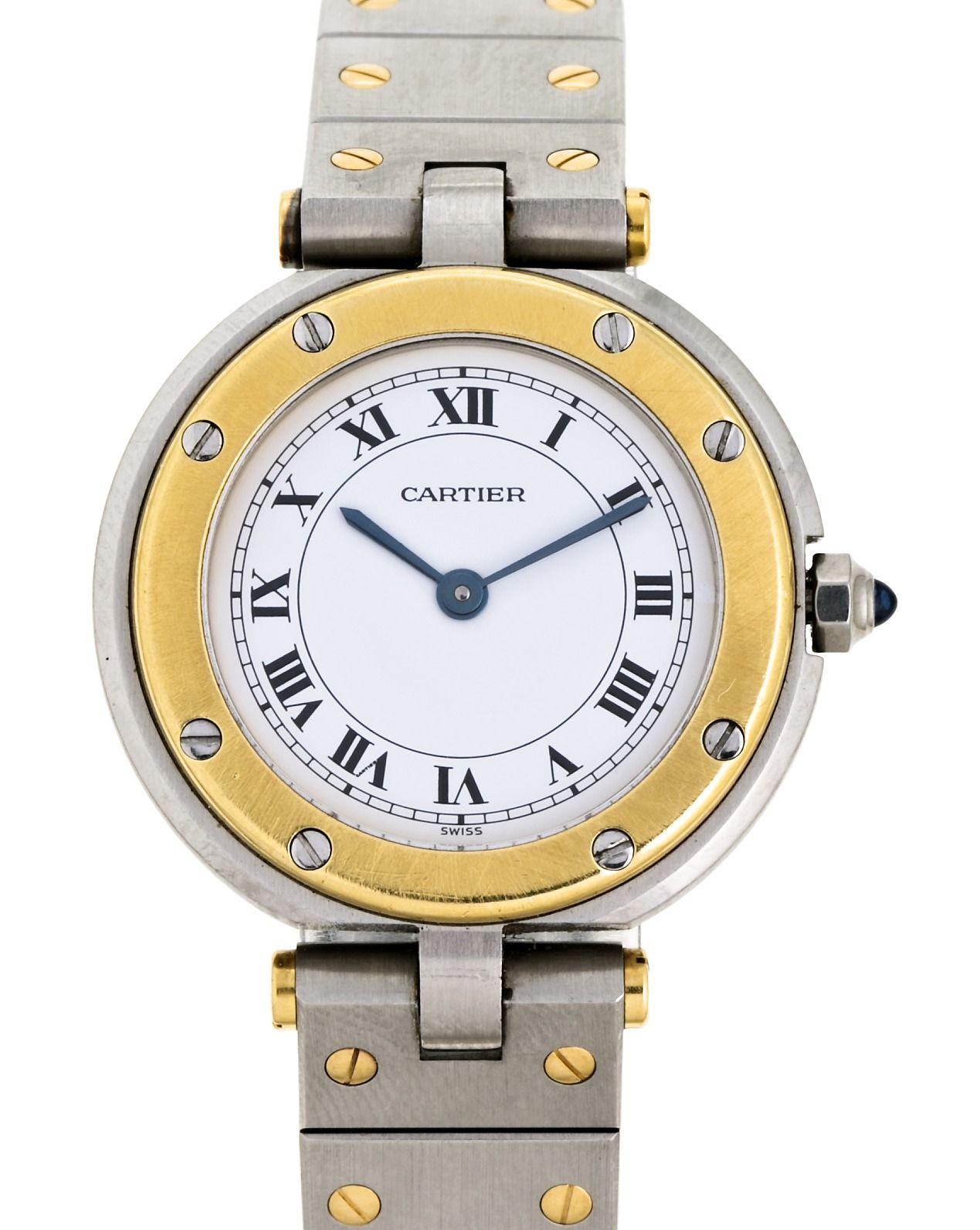 18f11b9274a3 Cartier, Ronde, reloj de pulsera de señora en acero y oro | По ...