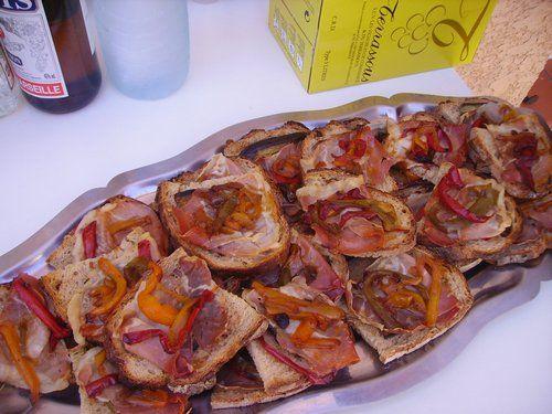 jambon serrano coulis de tomates poivrons
