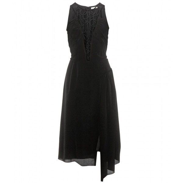 Nina Ricci Embellished Halterneck Dress featuring polyvore, fashion, clothing, dresses, black, kohl dresses, black embellished dress, nina ricci, embellished dresses and nina ricci dresses