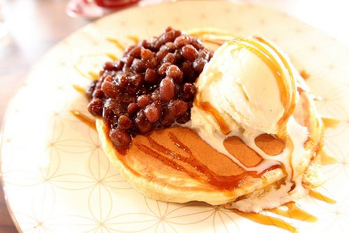 Pancake with Sweet Beans...interwesting!