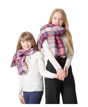6f304fd1e0bc3 Matching Mother Daughter Blanket Scarf Buffalo Plaid Burberry Plaid – MomMe  and More