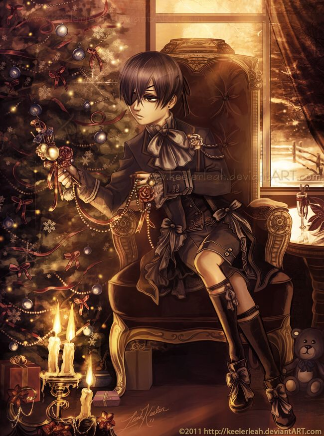 a kuroshitsuji christmas ciel by keelerleah on deviantart black butler - Black Butler Christmas