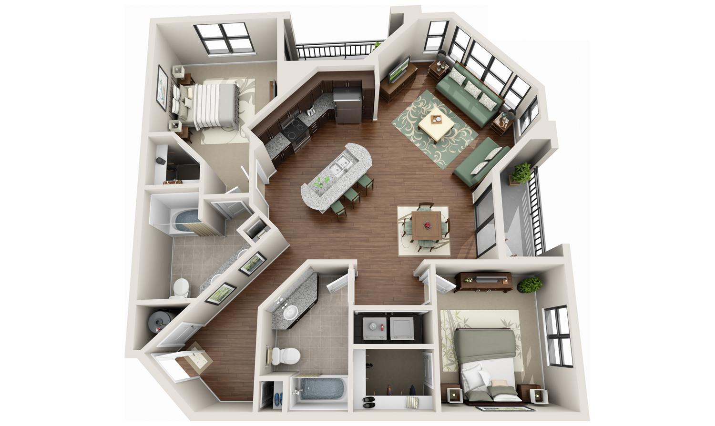 Simple Design 3d House Plans MAKE YOUR FLOOR PLANS POP