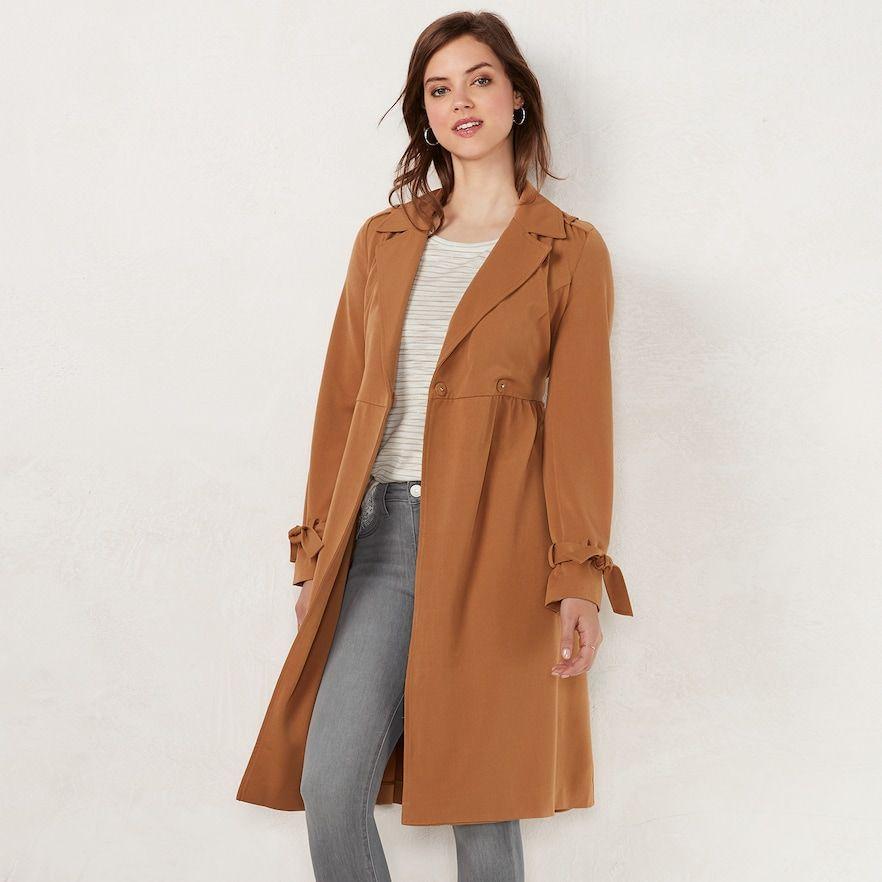 056ca6e354e5 Women s LC Lauren Conrad Pretty Trench Coat