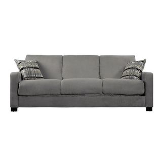 Portfolio Trace Convert A Couch Sage Grey Microfiber Futon Sofa Sleeper Ping Great Deals On Futons