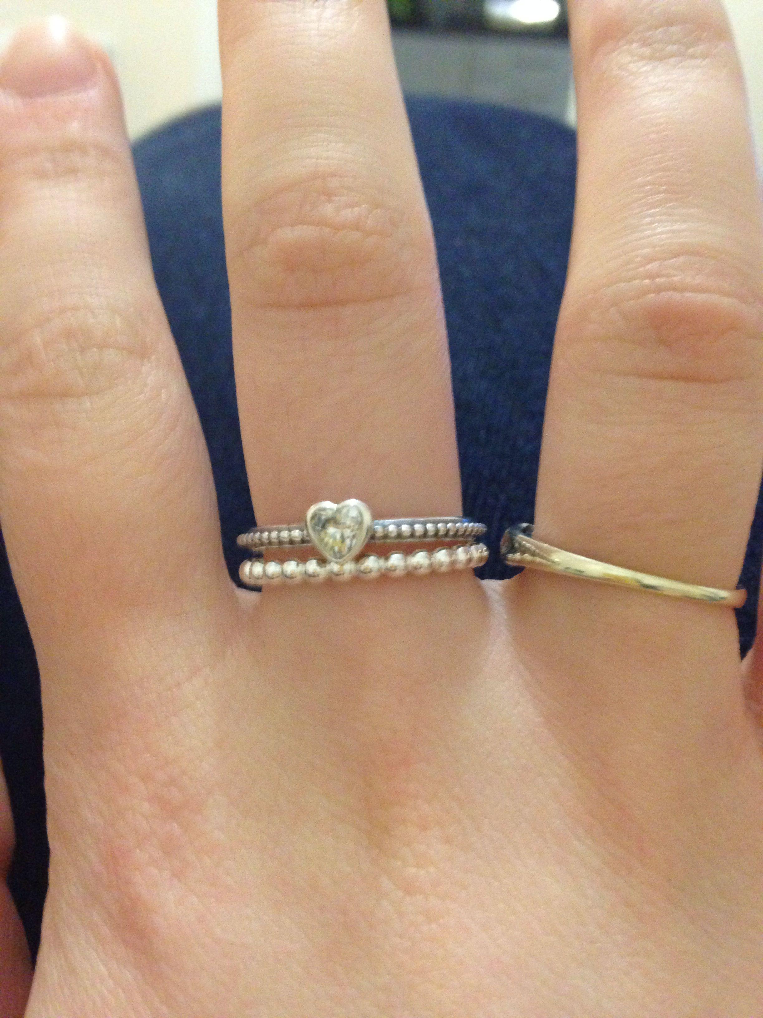 9fb345fe8 Pandora ring stack. Pretty. | Jewelry in 2019 | Pandora rings ...