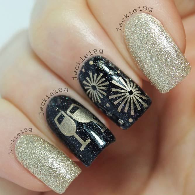 21 Exciting Ideas for New Years Nails to Warm Up Your Holiday Mood ...