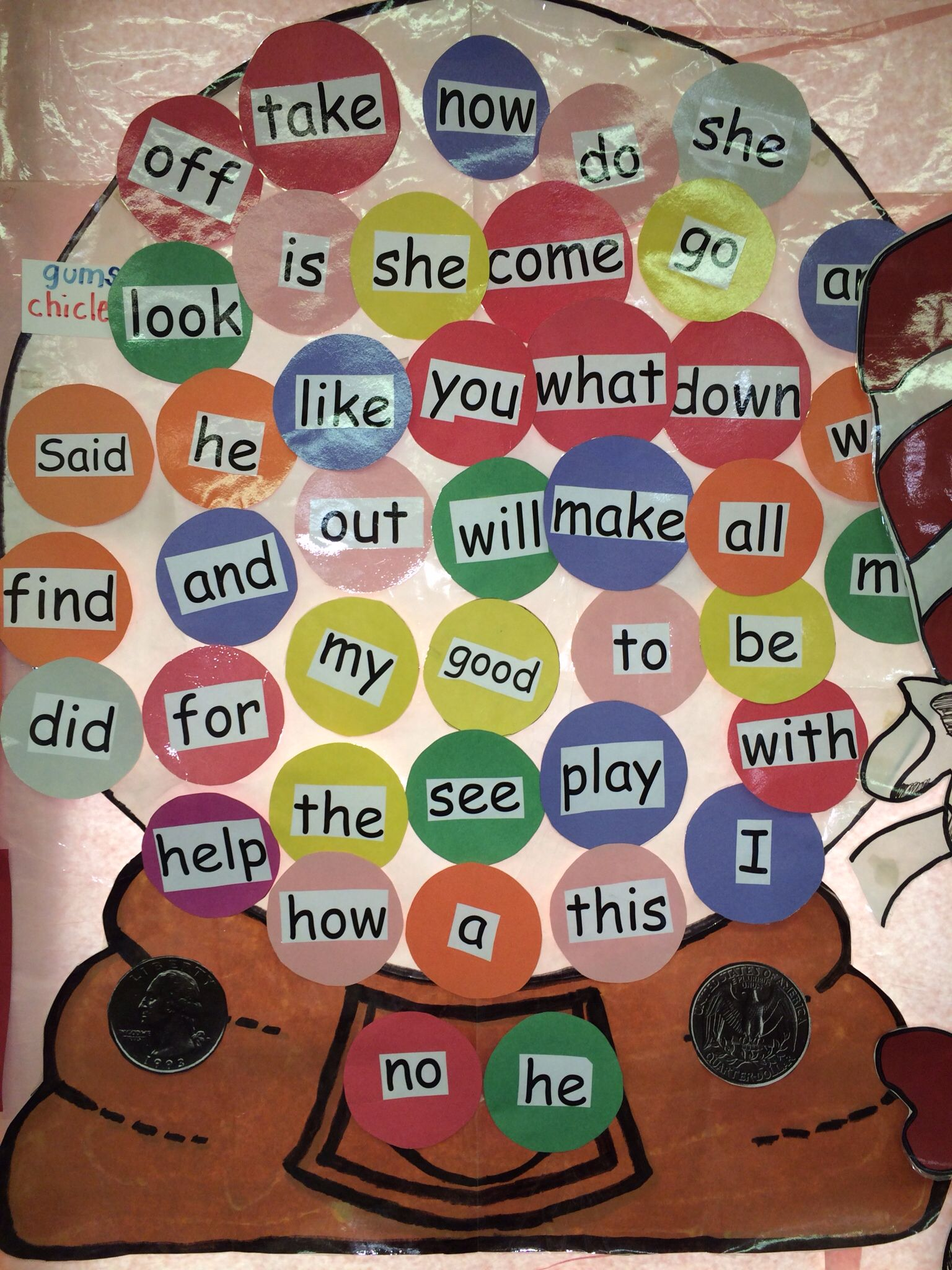 This Is Where I Display The Kinder Sight Words For The