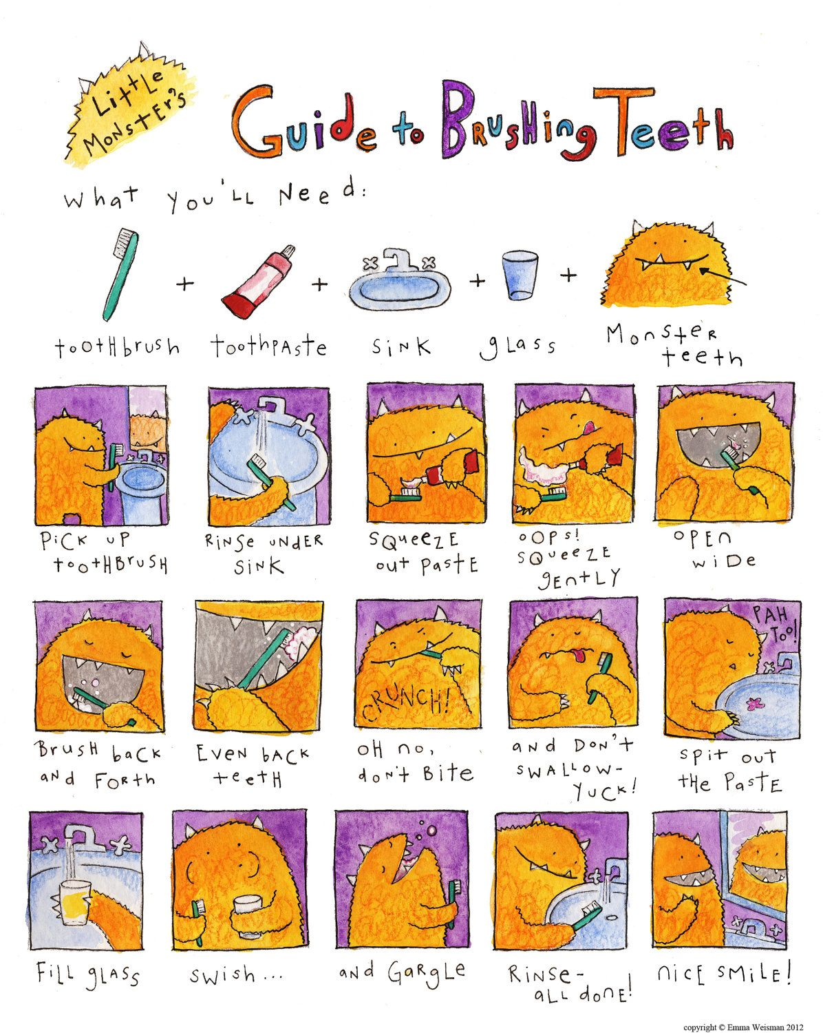 Little Monster S Guide To Brushing Teeth Tots To Teens Pediatric