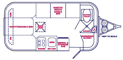 Casita Travel Trailer Floor Plans On Floor With Regard To Casita