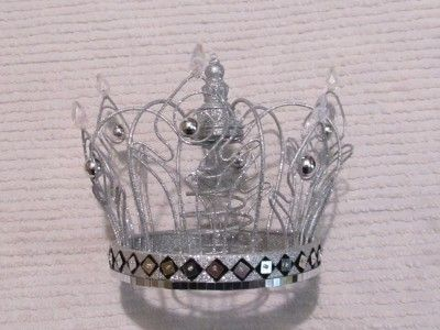 Crown Tree Topper Stunning Silver Glittered Crown Xmas Tree