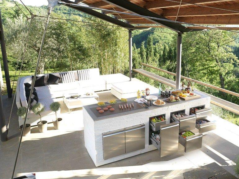 Cassetti e sportelli in acciaio inox per cucine esterne e barbecue ronda outdoor suggestioni - Cassetti per cucine ...