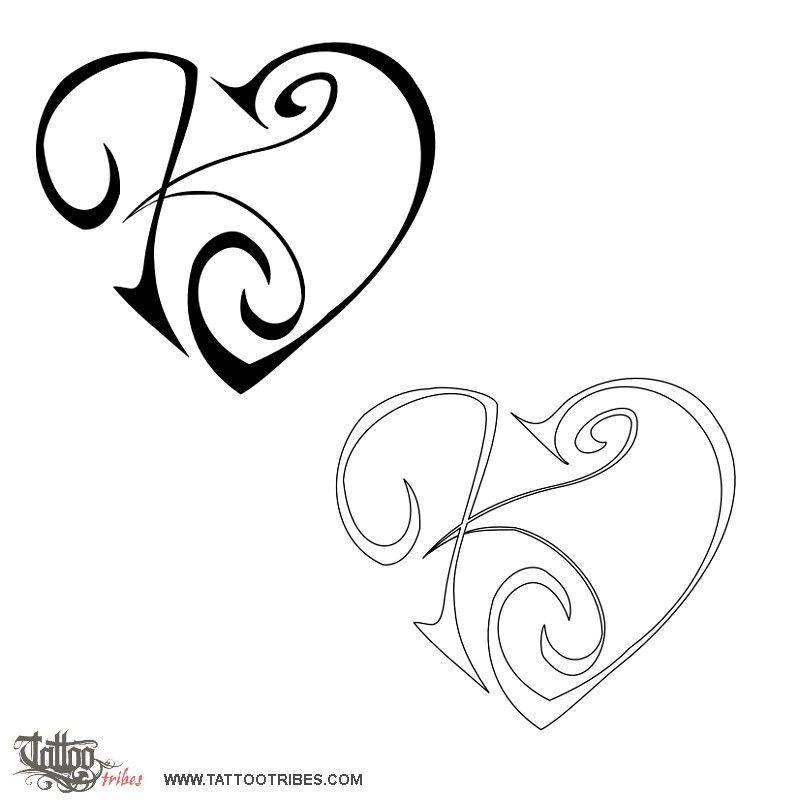 Mod le tatouage avec initiale pr nom 305137 tatouage pinterest voir les meilleures - Tatouage coeur avec initiale ...