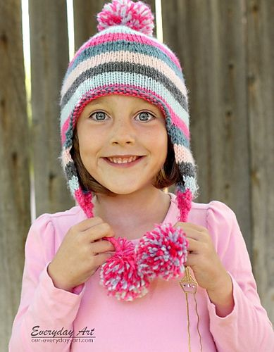 Ravelry Childrens Knit Ear Flap Hat Pattern By Everyday Art Hats