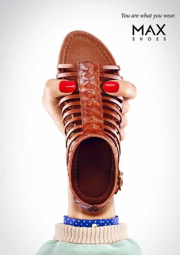 3/5 La marca de zapatos Max nos deleita con unas gráficas humorísticas donde sus productos son los rostros de humanos. #publicidad #DSS #creatividad #ad #print #publicity #advertising