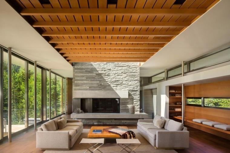 Salons mit Charme und modernem Design | Holzdecke, Dekoration ...