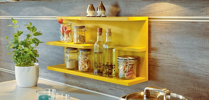 Spice up your life with an in built spice rack, the perfect spot to store all your secret ingredients.