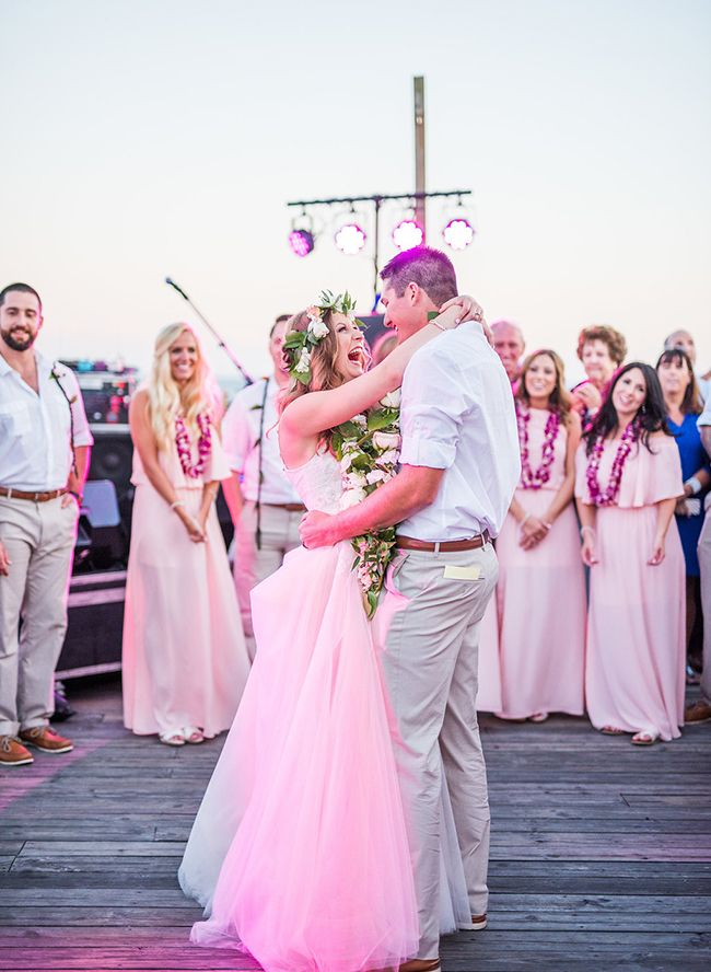 Hawaiian Themed Wedding on the Beach