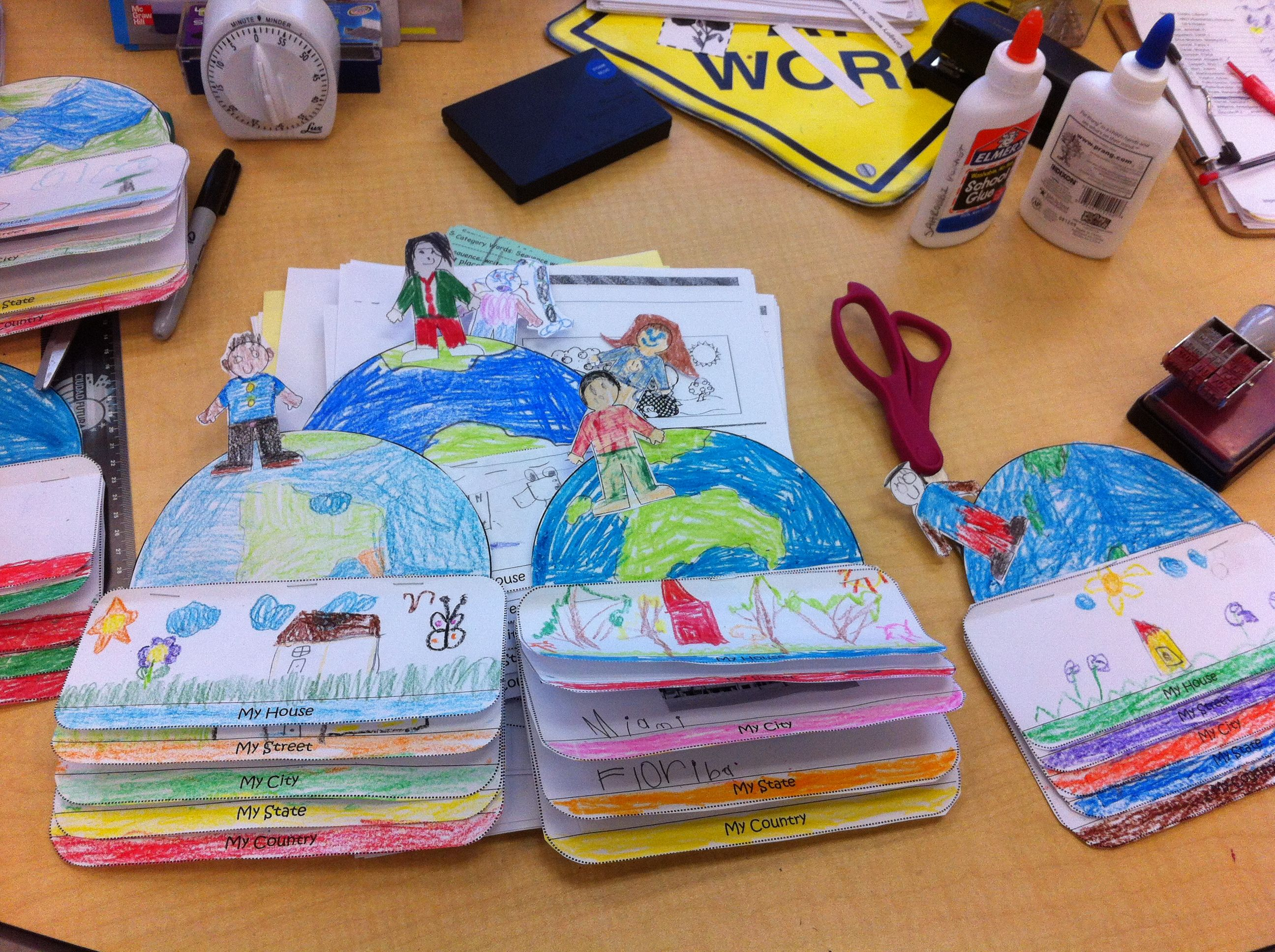Me on the map flip book, Project turned out great! my students love it :) thank you for sharing...