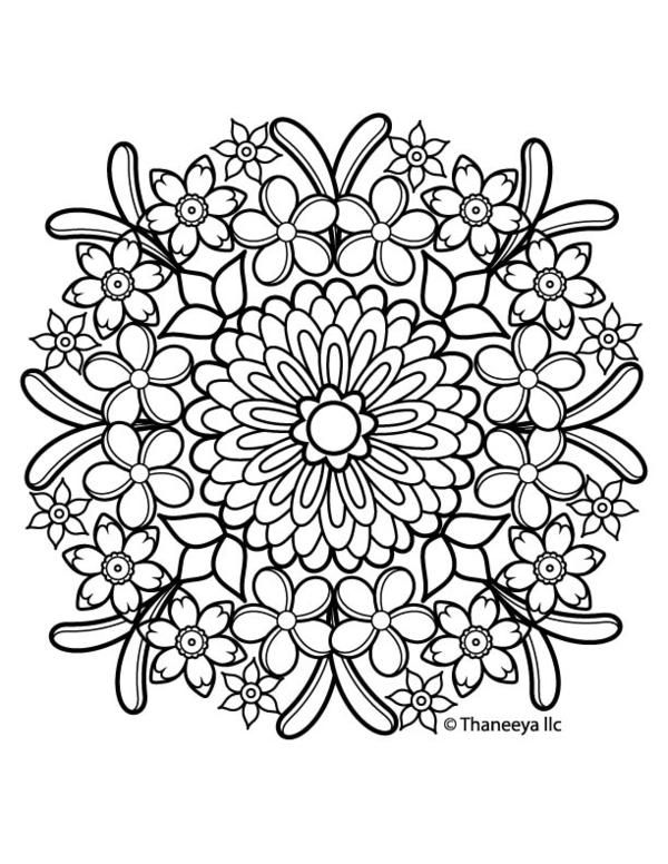 Iron On Transfer Thaneeya Mandala Flower 4 Estampas Desenhos