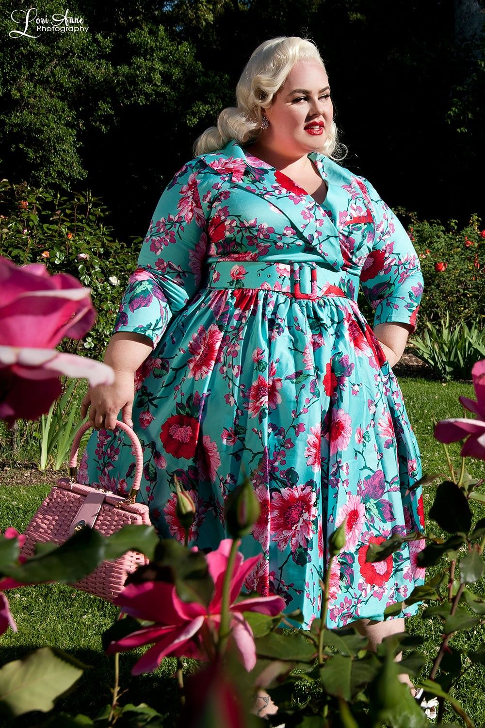Pinup Couture 1950s Style Plus Size Birdie Dress In