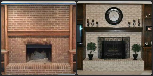 This Brick Fireplace Resurfacing Endeavor I Decided To Take On Was