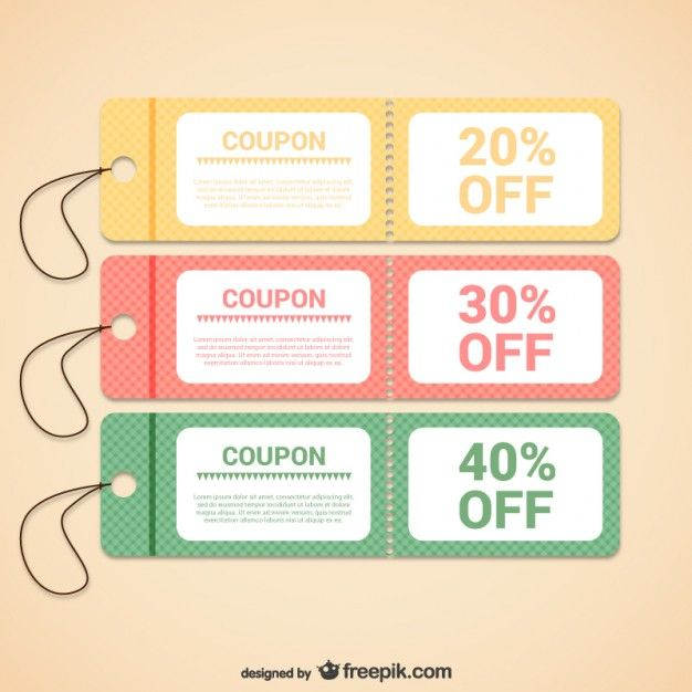Discount coupons templates Coupons and Laundry - free templates for coupons