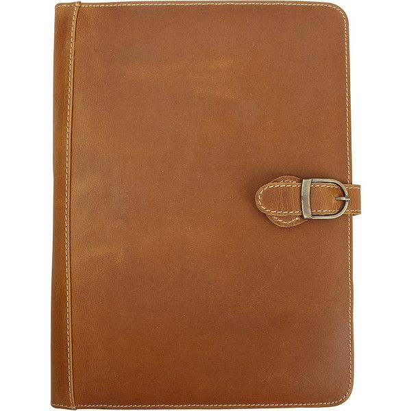 Canyon Outback Lee Canyon Leather Meeting Folder/Media Holder -... (€74) ❤ liked on Polyvore featuring bags, business accessories, tan, brown leather bag, leather bags, brown bag, canyon outback leather and tan leather bag