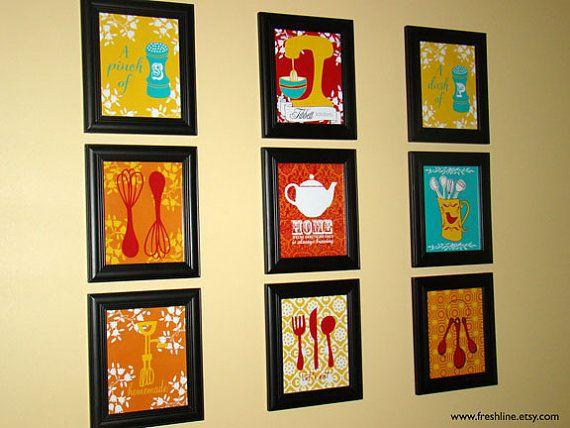 Personalized kitchen print set kitchen art | Kitchen wall art, Wall ...