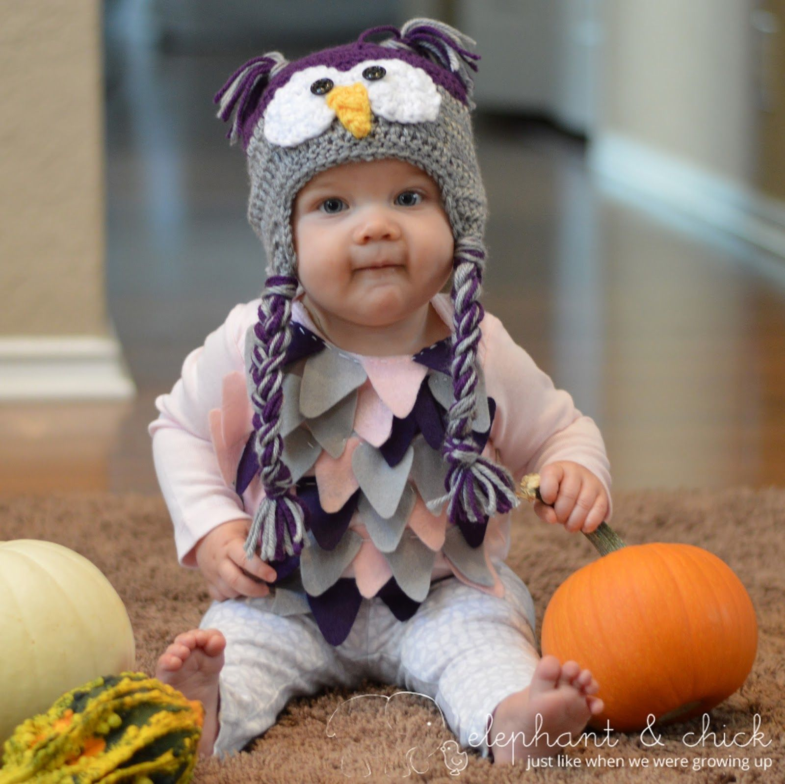 Today I am sharing the DIY Baby Owl Costume I made for Penelope last year for  sc 1 st  Pinterest & Today I am sharing the DIY Baby Owl Costume I made for Penelope last ...