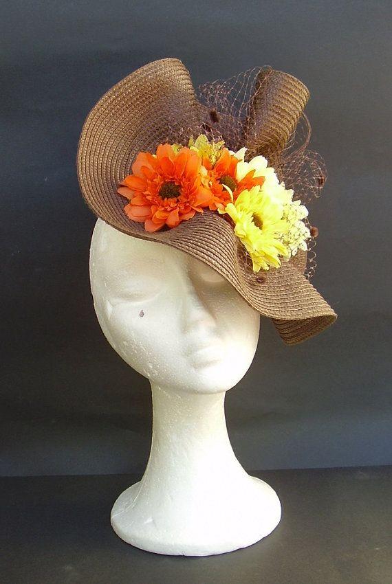 Kentucky Derby Hat Floral Fascinator Wedding Hat By Tocamemika Floral Fascinators Kentucky Derby Hat Derby Hats