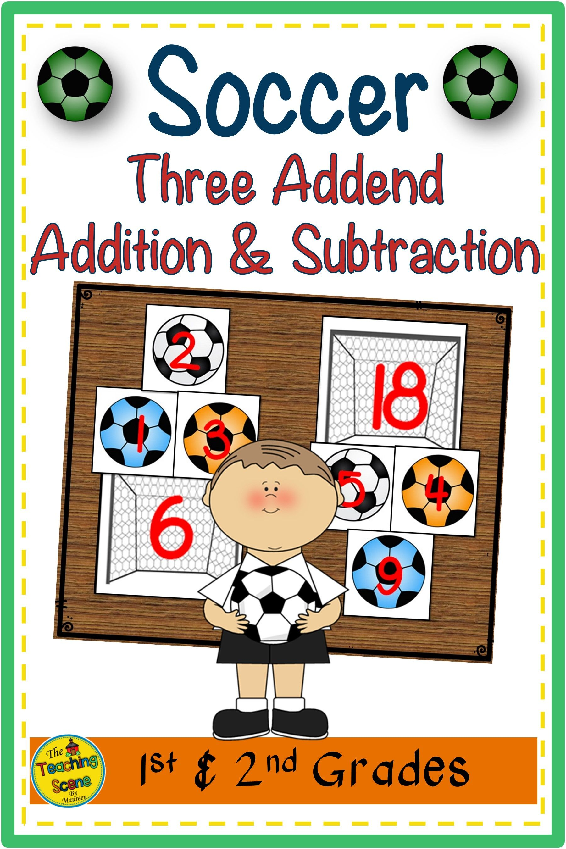Soccer Three Addend Addition Amp Subtraction Facts 0 20 In