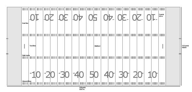 American Football Field Diagram Horizontal Football Field Football Field Pamphlet Template American Football