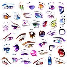 Different Color Style Eyes Anime Eye Drawing Anime Eyes Manga Eyes