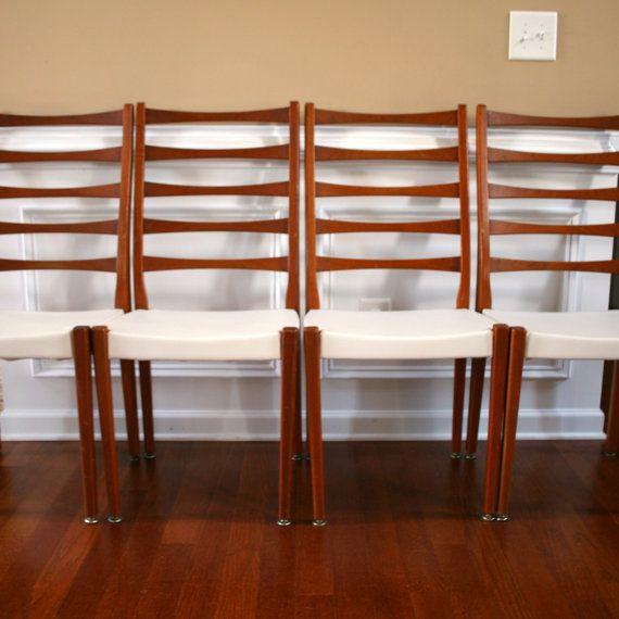 4 teak danish modern dining chairs svegards by rhapsodyattic atlanta vintage by. Black Bedroom Furniture Sets. Home Design Ideas