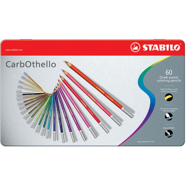 Stabilo CarbOthello Pastel Pencil Set ❤ liked on Polyvore featuring beauty products, makeup and stabilo