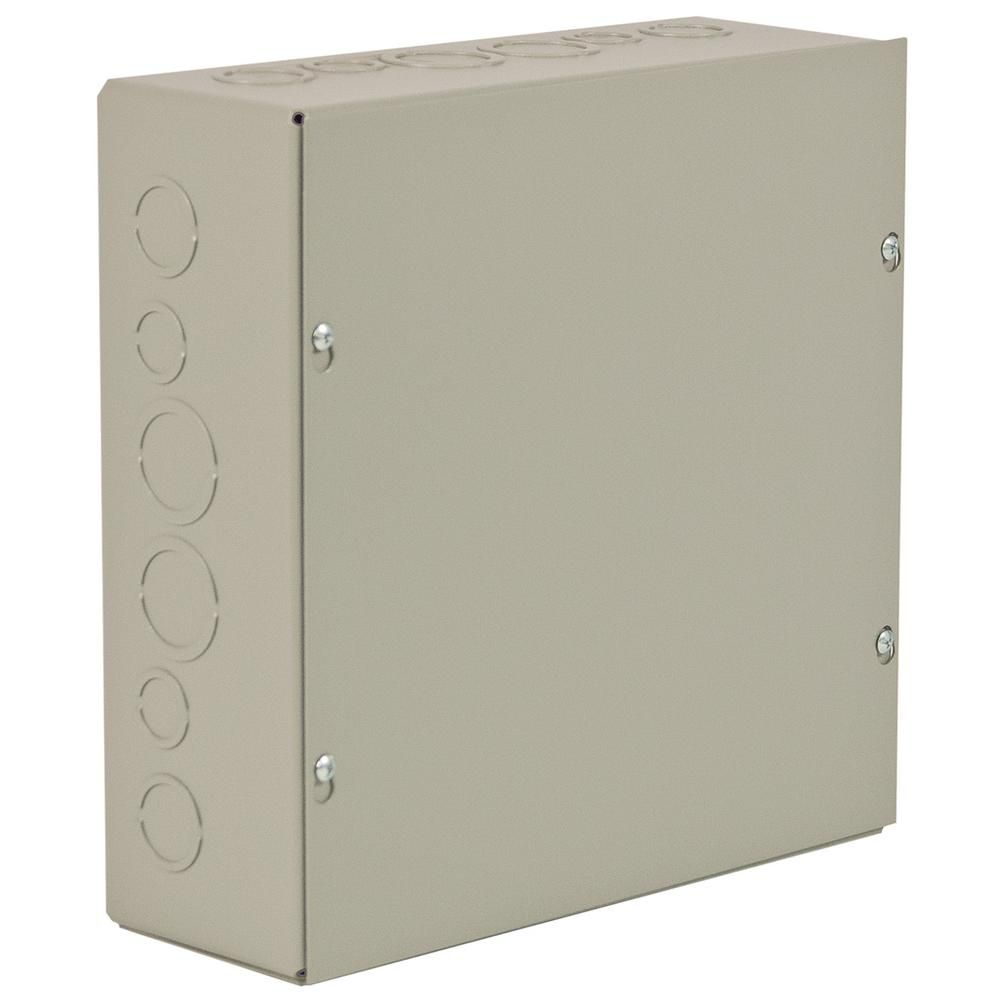 WIEGMANN NEMA 1 enclosure is designed for use as a wiring box or junction box. Enclosure is fabricated from carbon steel. The finish is ANSI-61 gray polyester powder inside and out.