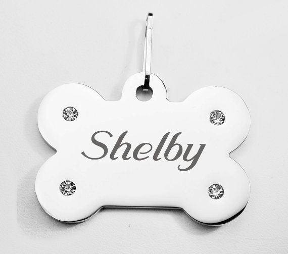 For Walt & Whitley - Engraved dog tags with dog name and owner phone number https://www.etsy.com/listing/271947776/personalized-silver-bone-pet-tag-with
