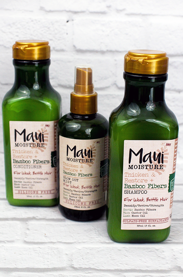 Maui Moisture Thicken and Restore Hair Products Review
