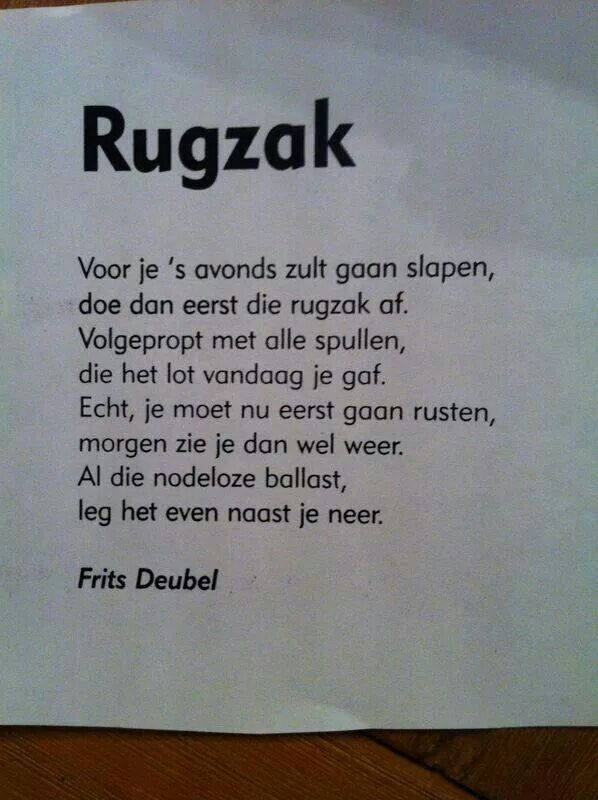 Rugzak.